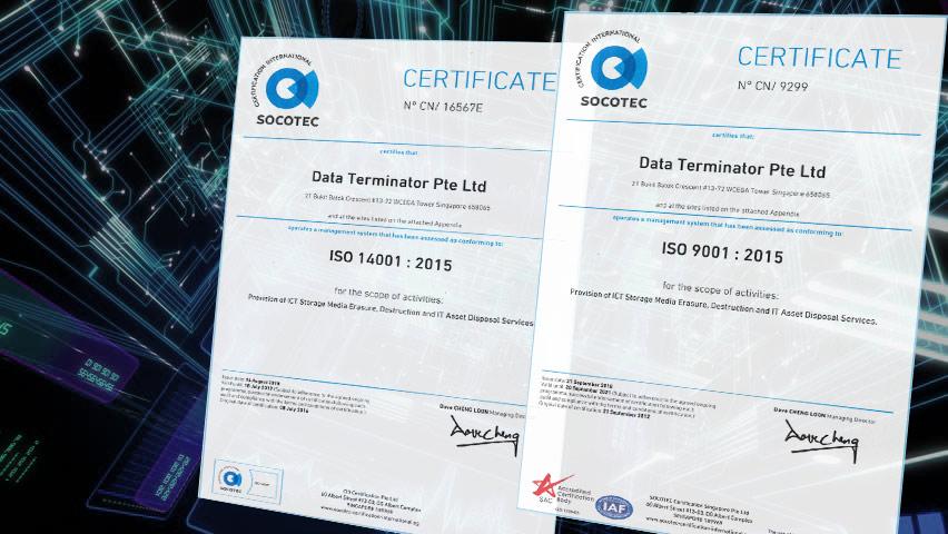 Secure Data Erasure - Data Terminator Singapore HDD storage
